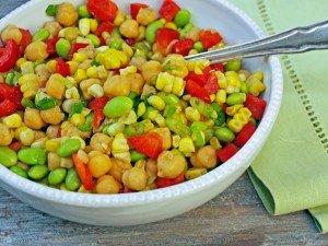 Китайский салат с кукурузой