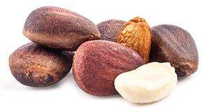 Кедровые орехи Витамин В6: 122,4(мг) /100гр