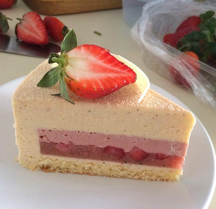 Торт желейный с клубникой пошаговый рецепт с фото